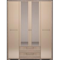 Шкаф четырехдверный Вива с ящиками с зеркалом