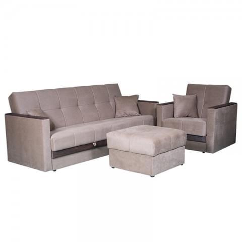 Набор мягкой мебели Бетти (диван+кресло+пуф)