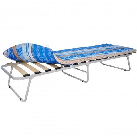Кровать раскладная на ламелях с мягким матрасом Марфа-1