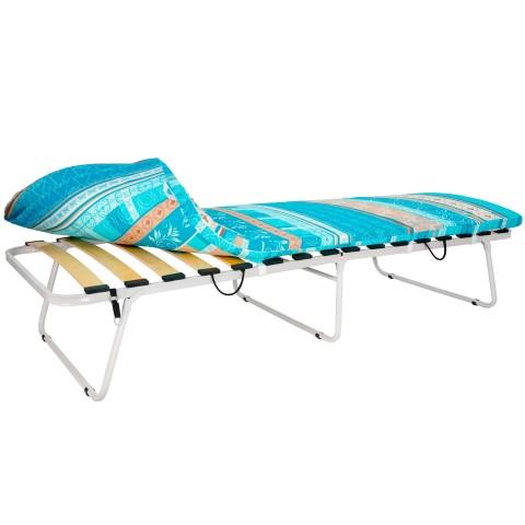 Кровать раскладная увеличенная на ламелях с мягким матрасом Марфа-3