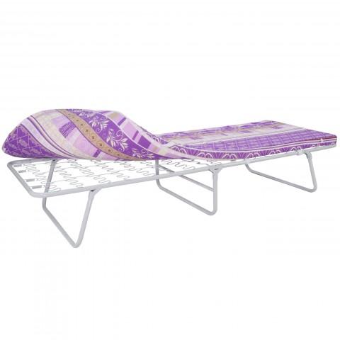 Кровать раскладная на пружинной змейке с мягким матрасом Марфа-2
