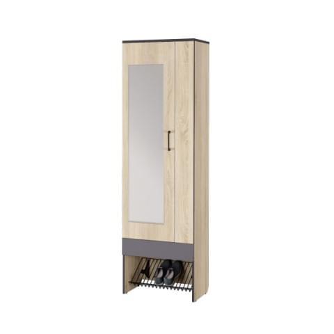 Шкаф с зеркалом Эльза 2 + Эльза 8 Сетка для обуви 600
