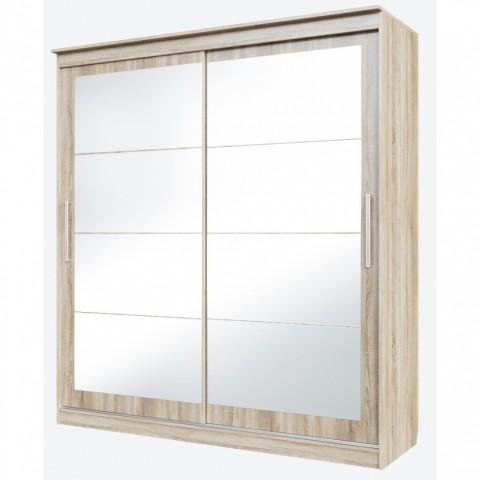 Шкаф-купе № 19 Хайтек с зеркалами на 2 створки