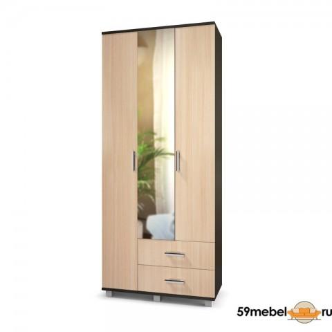 Шкаф 3-створчатый Карина-33 (К33) с зеркалом