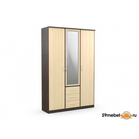 Шкаф комбинированный Дуэт Люкс с зеркалом