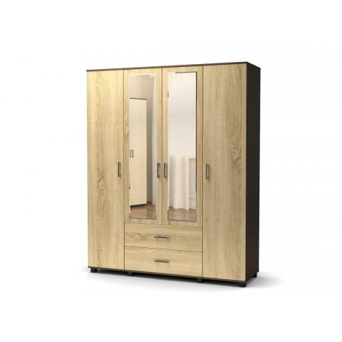 Шкаф Максим 4х створчатый с ящиками