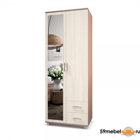 Шкаф 2-створчатый Ева-24 (Е24) с зеркалом