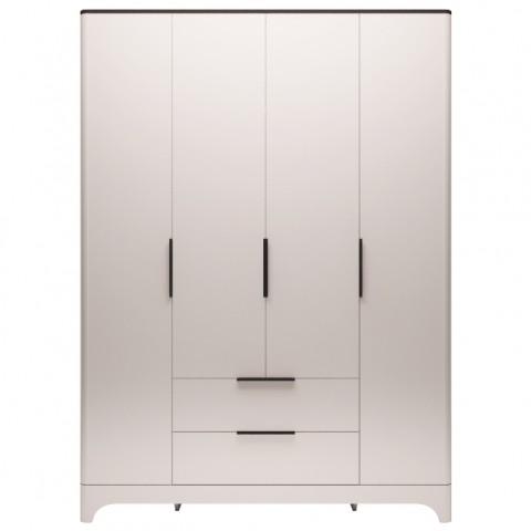 Шкаф для одежды 4-х дверный с ящиками без зеркал Танго №2