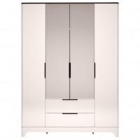Шкаф для одежды 4-х дверный с ящиками и с зеркалом Танго №2