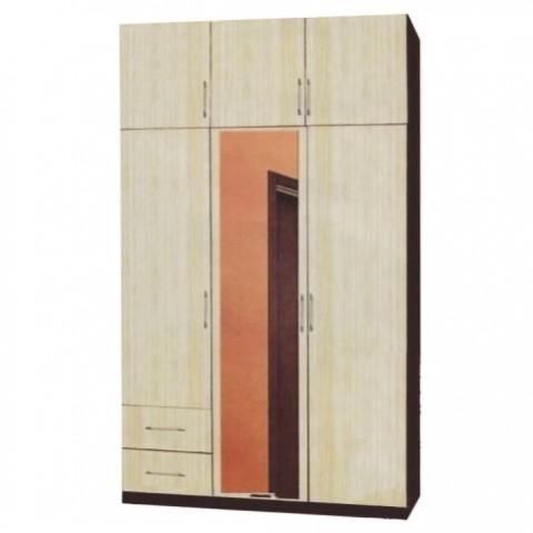 Шкаф 3х створчатый с антресолью с ящиками с зеркалом