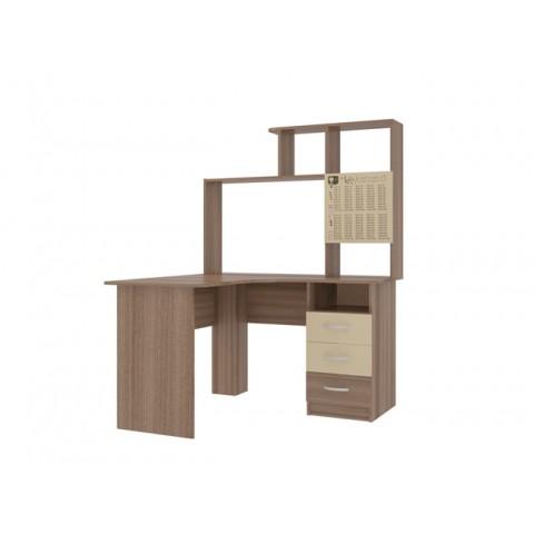 Стол компьютерный 1200 Галерея  угловой с прямой надстройкой