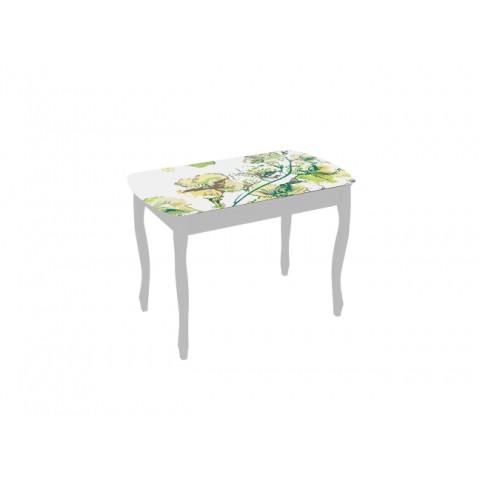 Стол обеденный Экстра-1 с ящиком белый/Жасмин