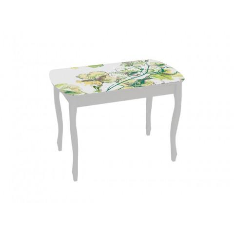 Стол обеденный Экстра-2 раскладной белый/жасмин