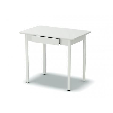 Стол обеденный закругленный с ящиком