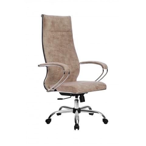 Кресло компьютерное МЕТТА L 1m 42/K (Велюр B Бежевый) + СН