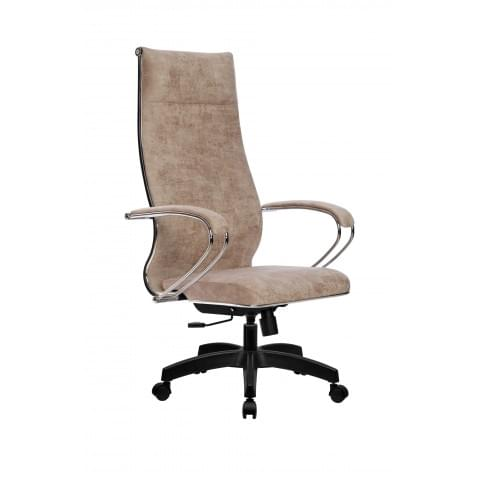 Кресло компьютерное МЕТТА L 1m 42/K (Велюр B Бежевый) + PL